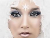 Makeup wie eine Schneekönigin